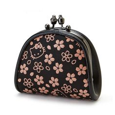 Hello Kitty Gamaguchi Coin Wallet is stylish, cute and functional. While the main colour is black, the pink sakura creates femininity and the feel of spring. Gamaguchi is a traditional Japanese style purse, known for its functionality.  Made in Japan and licensed by Sanrio, this purse is a 100% genuine Hello Kitty product. It comes in a pink box.  Producer: Sanrio Country of Production: Japan Size: 8.5 x 3 x 8cm Material: Deerskin Delivery: Directly from Tokyo, where Hello Kitty enjoys…