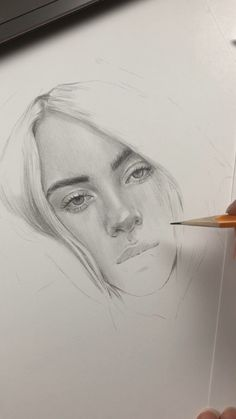 WIP time lapse video of drawing portrait of Billie Eilish by.-WIP time lapse video of drawing portrait of Billie Eilish by Nadia Coolrista - Pencil Art Drawings, Art Drawings Sketches, Pencil Portrait, Portrait Art, Drawing Portraits, Painting Videos, Painting & Drawing, Billie Eilish, Sketch Video
