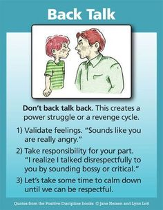 """Positive Discipline: Don't Back Talk Back Excellent points. Teach by example,. - Positive Discipline: Don't Back Talk Back Excellent points. Teach by example, not by """"because - Gentle Parenting, Parenting Quotes, Parenting Advice, Kids And Parenting, Peaceful Parenting, Parenting Classes, Mindful Parenting, Foster Parenting, Parenting Websites"""