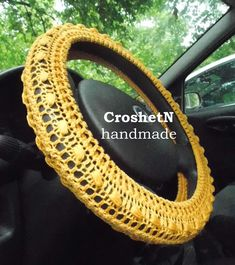 Steering wheel cover Car Accessories Car Gifts Crochet Wheel Cover Car Decor Cover for car Steering