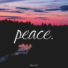 Peace with a period..