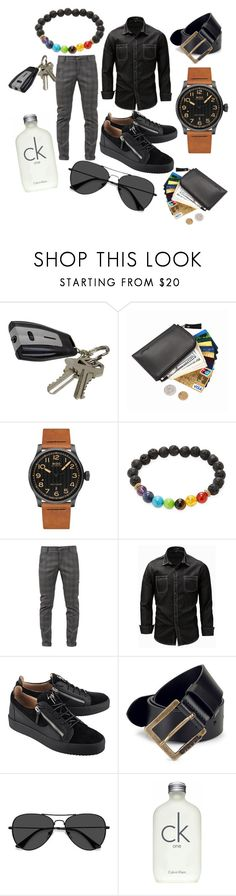 """""""OOTD Casual Man"""" by naturallysweetstyle ❤ liked on Polyvore featuring J.B. Nifty, Mido, Jean Claude, Dondup, Giuseppe Zanotti, Diesel, EyeBuyDirect.com, Calvin Klein, men's fashion and menswear"""