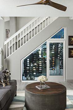 Basement Stairs Storage Ideas Wine Cellar 15 Ideas For 2019 Bar Under Stairs, Under Stairs Wine Cellar, Stair Storage, Wine Storage, Storage Ideas, Secret Storage, Hidden Storage, Storage Solutions, Tiny House Stairs