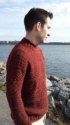 Ravelry: Modern Gansey pattern by Elizabeth McCarten Jumper Knitting Pattern, Knitting Patterns Free, Knit Patterns, Sweater Patterns, Free Knitting, Free Pattern, Cable Sweater, Men Sweater, Warm Sweaters