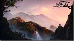 Using Lighting, Atmospherics and Digital Illustration Techniques for Matte Painting – The Making of Golden Sunrise in a Fairy Land by Stas Lobachev