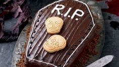 Chocolate coffin cake - Halloween...