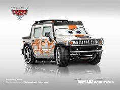 Hummer H2 - disney cars TORQAE by ~yasiddesign on deviantART