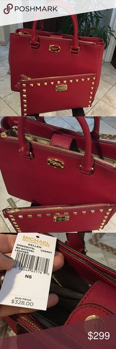 Spotted while shopping on Poshmark: 🎁Ruby Red🎁 Michael KORS SET❤️! #poshmark #fashion #shopping #style #Michael Kors #Handbags