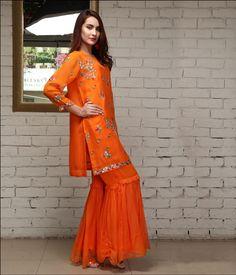 Pakistani Dresses, Indian Dresses, Gharara Pants, Sharara Designs, Salwar Kameez, Formal Wear, Suits, Wedding Dresses, How To Wear
