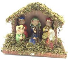 Christmas Nativity Scene 6 inch X 45 inch Wood Ceramic and Grass -- This is an Amazon Affiliate link. Read more reviews of the product by visiting the link on the image.
