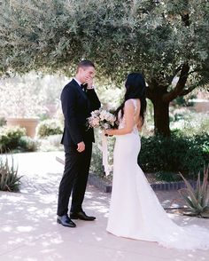 After much consideration, and decided to do a first look, and it was completely worth it. Here is Paul's sweet… Outdoor Ceremony, Consideration, Botanical Gardens, Wedding Things, Reception, Weddings, Wedding Dresses, Unique, Sweet