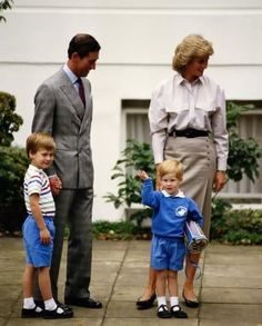 Princess Diana, Prince Harry, Prince Charles and Prince William