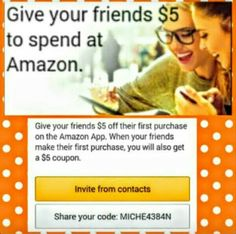 Use my referral link to get a $5 coupon at Amazon for signing into the Amazon App the first time