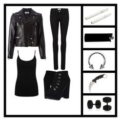 """""""Rebel"""" by sup-its-alex-peace ❤ liked on Polyvore featuring Paige Denim, Yves Saint Laurent, M&Co, Jessica Simpson and Bling Jewelry"""
