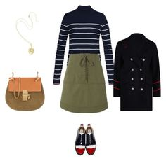 """""""Untitled #4492"""" by explorer-14576312872 ❤ liked on Polyvore featuring Tommy Hilfiger, Marissa Webb, Thom Browne and Chloé"""