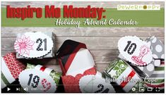 Inspire Me Monday ~ Holiday Advent Calendar Advent Calenders, Remembrance Day, Inspire Me, Poppy, Calendar, Presents, Merry, Gift Wrapping, Stamp