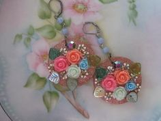 Something Blue.vintage flower bouquet jewelry by originalnoell