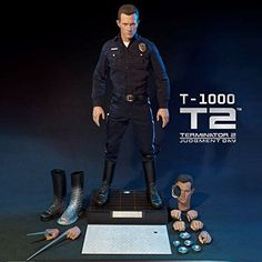 Enterbay x Real Masterpiece (HD-1014) Terminator 2 The Judgment Day T1000 1:4 Figure. The fabulous HD Masterpiece: T-1000 would be the 3rd product Enterbay has released from the Terminator 2 - The Judgment Day series for all the Terminator fans and figurine collectors around the world. The T-1000 collectible is created based on Robert Patrick as T-1000 in the movie, a more advanced Terminator than T-800 portrayed by Arnold Schwarzenegger. Package Dimensions: 28-inch x 16-inch x 12-inch....