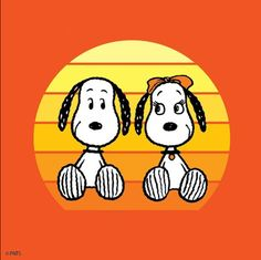 """""""Sisters are the best!"""", Snoopy and his sister Belle Charlie Brown Cafe, Charlie Brown And Snoopy, Peanuts Cartoon, Peanuts Snoopy, Peanuts Comics, Snoopy Love, Snoopy And Woodstock, Snoopy Girlfriend, Snoopy Family"""