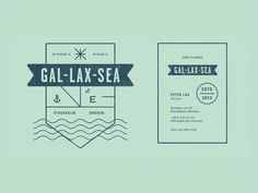 Further exploration for the branding of Gal-Lax-Sea.  See details in the project page.