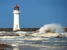 ,Perch Rock Lighthouse, New Brighton at the mouth of the River Mersey