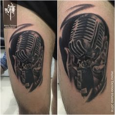 Mic Tattoo done by Mahesh Amin at Mehz Tattoo Studio.  Hope you guys like this too :)  Your Views, Comments and Shares would be appreciated !  For more information visit and like us at - Mehz Tattoo Studio . Mumbai. India www.mehztattoostudio.com