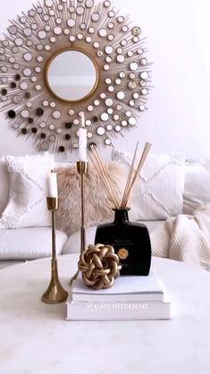 Diy Room Decor Videos, Diy Crafts For Home Decor, Diy Crafts Hacks, Diy Arts And Crafts, Diy Wall Decor, Diy Decorations For Home, Diys, Creation Deco, Gold Diy