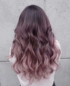 Trendy hair color balayage chocolate 16 Ideas - All For New Hairstyles Ombre Hair Color, Hair Color Balayage, Cool Hair Color, Purple Balayage, Ombre Hair Men, Nice Hair Colors, Lilac Hair, Gold Hair, Bronze Hair