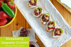 """Savory Experiments on Twitter: """"Strawberry Jalapeno Crostini, the perfect sweet…"""