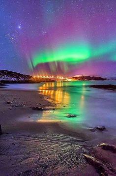 Aurora borealis, Sommaroy, Norway
