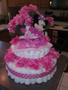 Disney Girl Diaper Cake