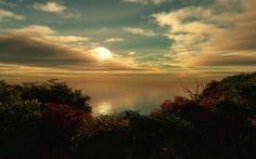 Digital Picture//Photo//Wallpaper//Desktop Background-Greece//Beach Sunset-#1108