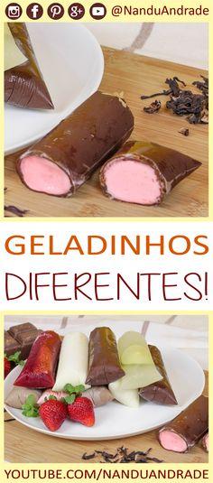 Aprenda como fazer várias receitas diferentes de geladinhos gourmet!! Geladinho de caipirinha, geladinho de hibisco, geladinho alcoólico! Geladinho gourmet Dindin gourmet Sacolé gourmet