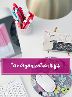 IHeart: Tax Organization Tips (IHeart Organizing) Garden Organization, Financial Organization, Organisation Hacks, Paper Organization, Organising Tips, Organizing Paperwork, Small Business Management, Money Management, Income Tax Preparation