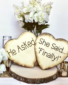 He Asked She Said finally Wood Hearts Set of 2 Photo Props, Engagement Photos He Asked She Said finally engagement photos prop Engagement Photo Props, Engagement Humor, Engagement Pictures, Wedding Engagement, Engagement Ideas, Country Engagement Photos, Fishing Engagement Photos, Country Couples, Engagement Outfits
