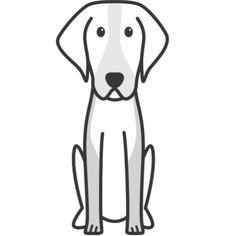 American Foxhound Dog Cartoon Photo Cut Out