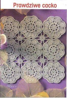 Crochet Squares, Crochet Doilies, Japanese Crochet Patterns, Table Centers, Views Album, Crochet Necklace, Blanket, Beautiful, Yandex