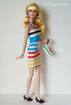 Poppy Parker Doll Clothes Sexy DRESS, PURSE &  JEWELRY Summer HM Fashion NO DOLL | eBay