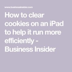 To clear the cookies on your iPad, you& need to go into the Safari section of your Settings app or the settings menu of any third-party browser. Life Hacks Computer, Iphone Life Hacks, Computer Basics, Computer Help, Computer Tips, Computer Security, Computer Keyboard, Cell Phone Hacks, Smartphone Hacks