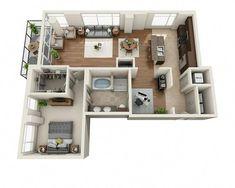 #livingroomfurniturelayoutfloorplanskitchens Sims House Plans, Small House Plans, House Floor Plans, Apartment Layout, Apartment Design, Home Room Design, Home Interior Design, Sims 4 House Design, Apartment Floor Plans