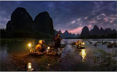 NIGHT FISHING IN YANGSHUO, CHINA   Photographs by YURY PUSTOVOY   In this incredible night-time capture by Yury Pustovoy (click the photo for a much higher-resolution version), we see a group of fisherman departing for an evening fishing excursion with their trusty birds (cormorants) in tow. Comments on Reddit strongly suggest this was taken [...]