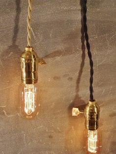Cable de paño Vintage minimalista Industrial bombilla tomas
