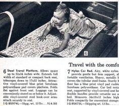 Sears 1969 Fall/Winter Catalog - Baby Car Seat Travel Platform