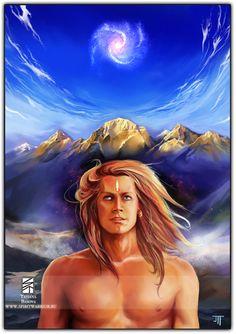 Mahasiddha Kailash Art Print. Spiritual Enlightenment.