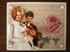 aunt & uncle married for 40 years, made a 3Dcard from a wedding picture
