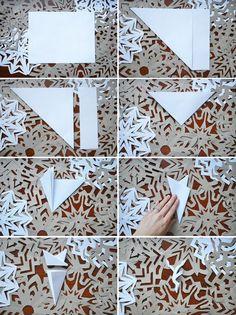 Tutorial paper snowflakes