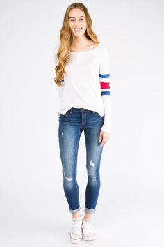 Girls Low Rise Straight Leg Taylor Dark Stone Wash Jean