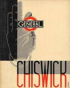 London General Omnibus Co Ltd - Chiswick Works brochure - cover by Edward McKnight Kauffer - 1932