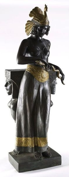 AFTER CHARLES RAPHAEL PEYRE  CLEOPATRA WITH THE ASP  bronze, signed in the bronze,  102cm high