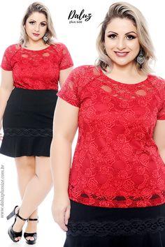 Blusa Plus Size - Coleção Alto Verão 2018 -  www.daluzplussize.com.br Look Plus Size, Ideias Fashion, Mom, Lace, Womens Fashion, Casual, Pencil, Christian Women, Vestidos